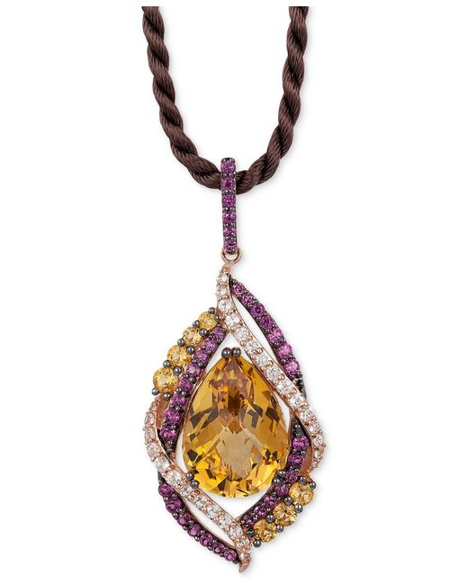 Le Vian | Pink Crazy Collection Multi-stone Pendant Necklace (12-1/3 Ct. T.w.) In 14k Rose Gold, Only At Macy's | Lyst
