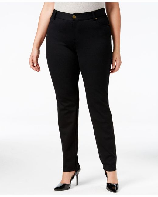 INC International Concepts | Black Plus Size Skinny Ponte Pants, Only At Macy's | Lyst