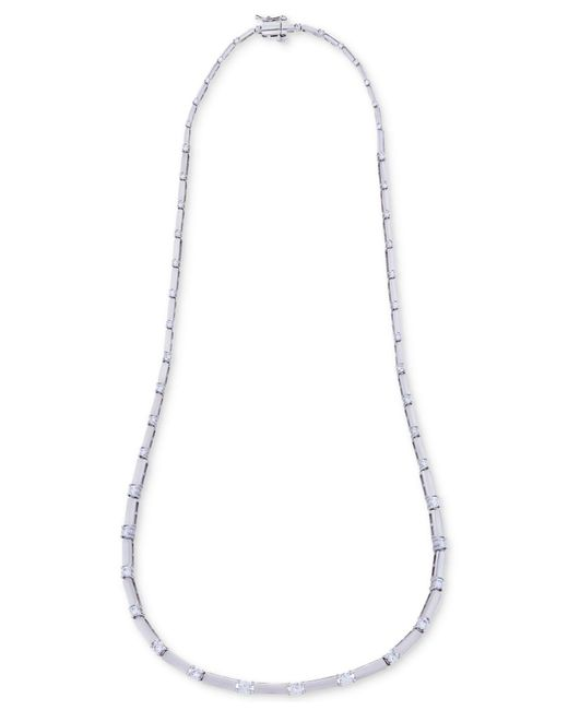 Macy's | Diamond Dot-dash Collar Necklace (2 Ct. T.w.) In 14k White Gold | Lyst