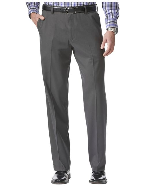 Dockers | Gray Comfort Khaki Relaxed Fit Flat Front Pants for Men | Lyst