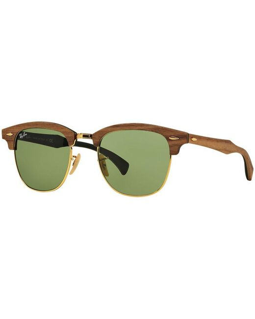 Ray-Ban | Green Sunglasses, Rb3016m Clubmaster Wood for Men | Lyst