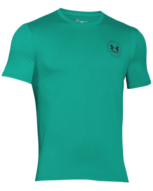 under armour men 39 s ua tech golf t shirt in teal for men