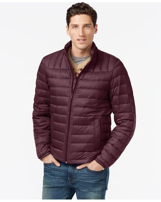 Tommy Hilfiger   Purple Nylon Packable Jacket for Men   Lyst