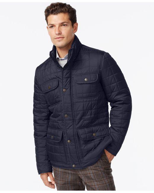 Tommy Hilfiger | Blue Four-pocket Quilted Jacket for Men | Lyst