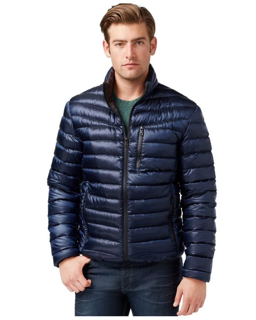INC International Concepts | Blue Irridescent Down Jacket for Men | Lyst