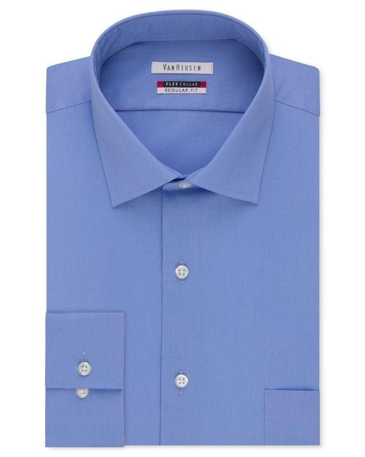 Van heusen men 39 s classic fit wrinkle free flex collar for Van heusen dress shirts