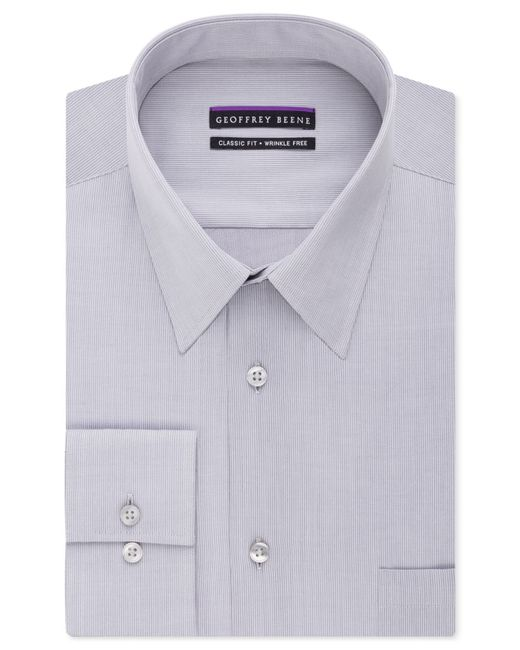 Geoffrey Beene | Purple Men's Classic-fit Wrinkle Free Bedford Cord Dress Shirt for Men | Lyst