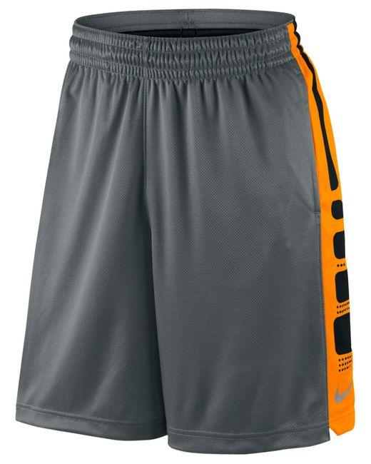 "Nike Men's Elite Dri-fit Basketball 9"" Shorts in Gray for Men (Cool Grey/Orange) - Save 12% | Lyst"