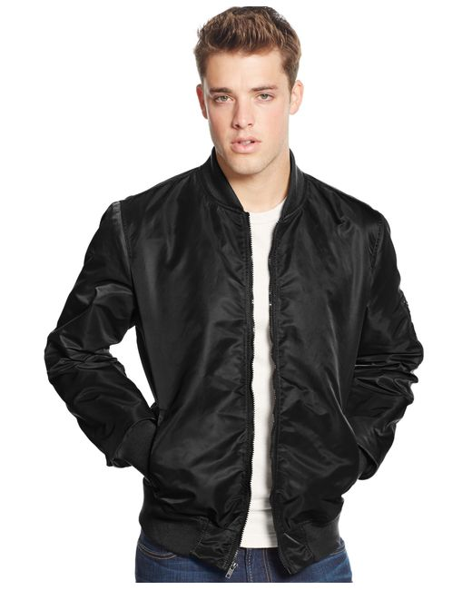 American Rag | Black Men's Nylon Bomber Jacket for Men | Lyst