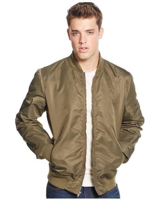 American Rag | Green Men's Nylon Bomber Jacket, Only At Macy's for Men | Lyst