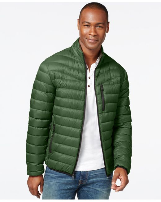 INC International Concepts | Green Solid Down Packable Jacket for Men | Lyst
