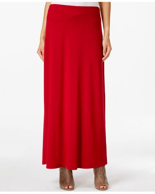 Eci | Red Solid Maxi Skirt | Lyst
