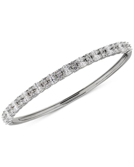 Arabella | Metallic Swarovski Bangle Bracelet In Sterling Silver | Lyst