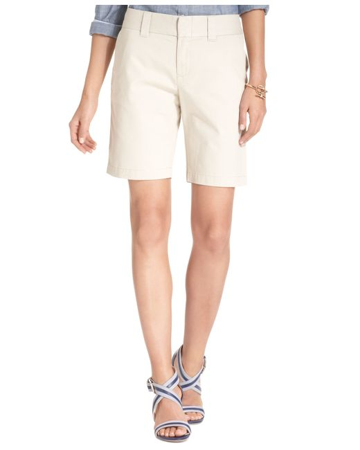 Tommy Hilfiger | Natural Hollywood Bermuda Shorts, Only At Macy's | Lyst