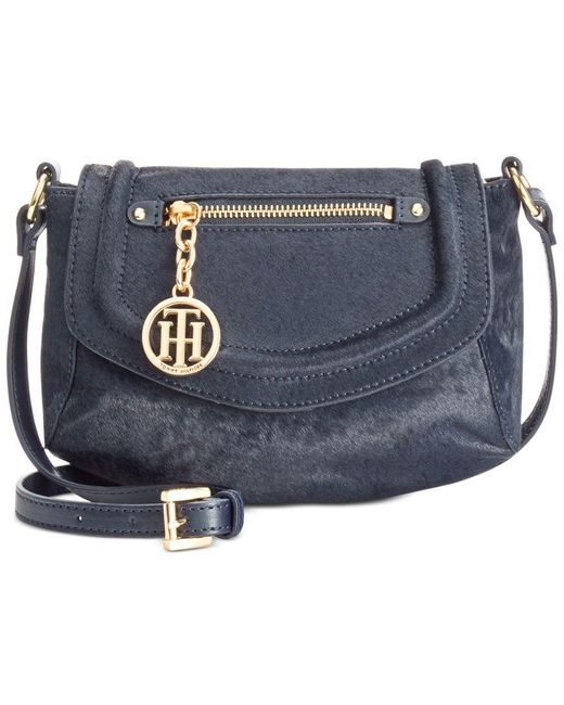 Tommy Hilfiger | Blue Jerry Calf Hair Small Crossbody | Lyst