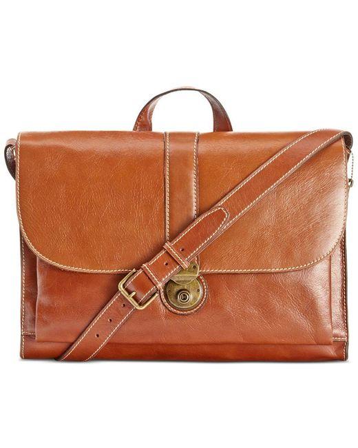 Patricia Nash | Brown Nash Men's Heritage Leather Messenger Bag for Men | Lyst