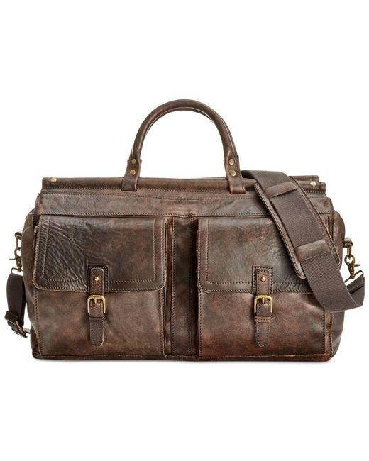 Patricia Nash | Brown Nash By Men's Heritage Leather Weekend Duffel | Lyst