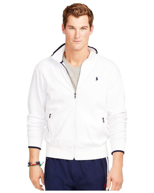Polo Ralph Lauren | White Full-zip Interlock Track Jacket for Men | Lyst
