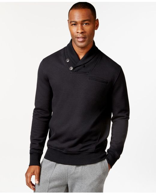Sean John | Black Alpha Shawl Collar Sweatshirt, Only At Macy's for Men | Lyst