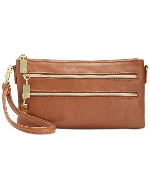 Style & Co. | Brown Mini Convertible Wristlet Crossbody, Only At Macy's | Lyst