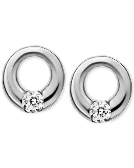 Skagen | Metallic Elin Silver-tone Circle Stud Earrings | Lyst