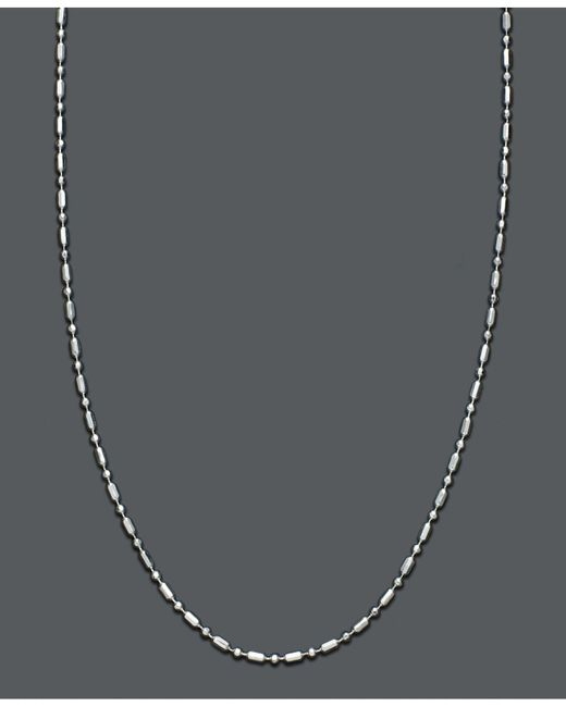 Giani Bernini - Metallic Sterling Silver Necklace, Dot Dash Chain - Lyst