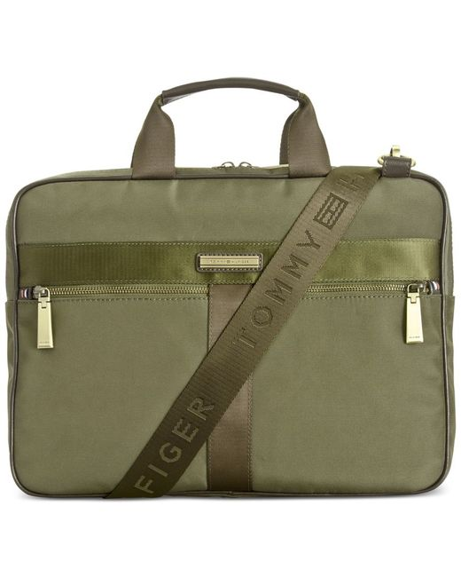 Tommy Hilfiger | Green Darren Slim Briefcase for Men | Lyst