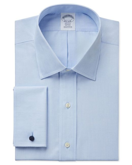 Brooks Brothers | Blue Regent Classic-fit Non-iron Solid French Cuff Dress Shirt for Men | Lyst