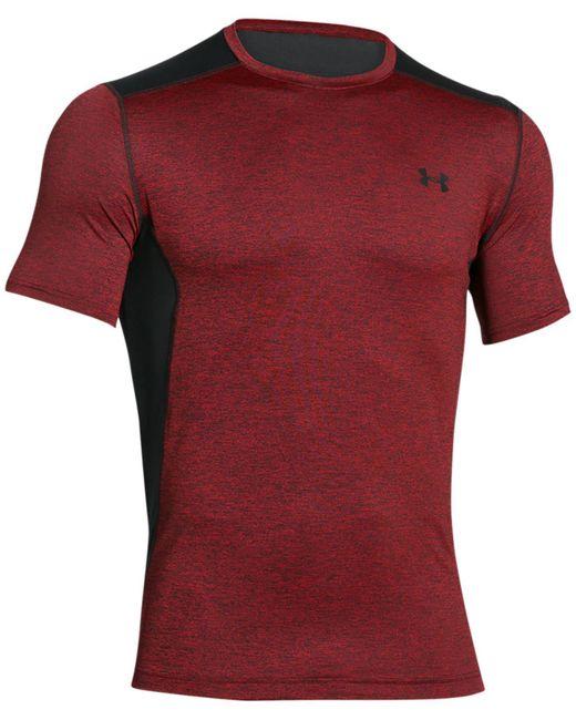 Under Armour | Red Heatgear® Raid T-shirt for Men | Lyst