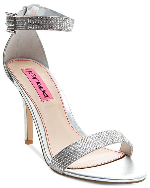 Betsey Johnson | Metallic Brodway Two-piece Dress Sandals | Lyst