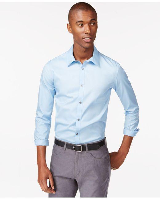 Calvin Klein | Blue Infinite Cool Classic-fit Shirt for Men | Lyst