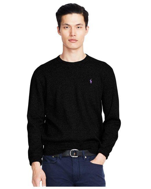 Polo Ralph Lauren | Black Cotton Crew-neck Sweatshirt for Men | Lyst