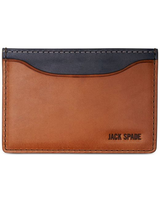 Jack Spade | Blue Mitchell Leather Credit Card Holder for Men | Lyst