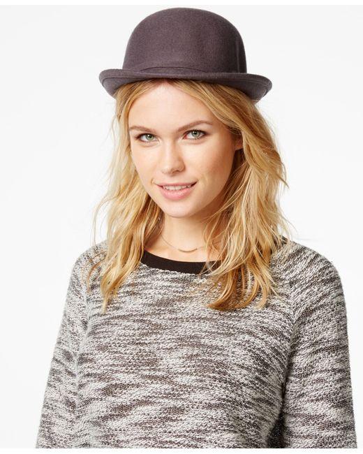 BCBGeneration | Gray Heart Charm Bowler Hat | Lyst