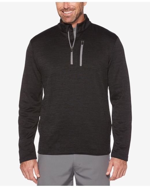 PGA TOUR | Gray Men's Heathered Quarter-zip Sweater for Men | Lyst