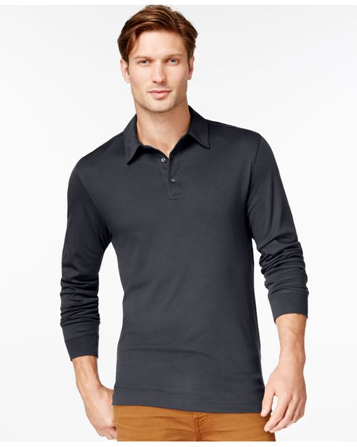 Cutter & Buck | Black Men's Big And Tall Belfair Pima Long-sleeve Polo for Men | Lyst