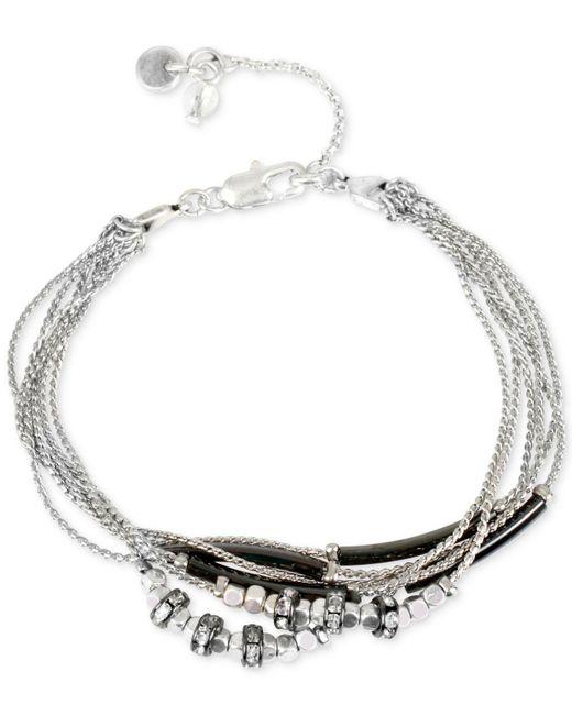 Kenneth Cole | Metallic Two-tone Multi-chain Crystal Bracelet | Lyst