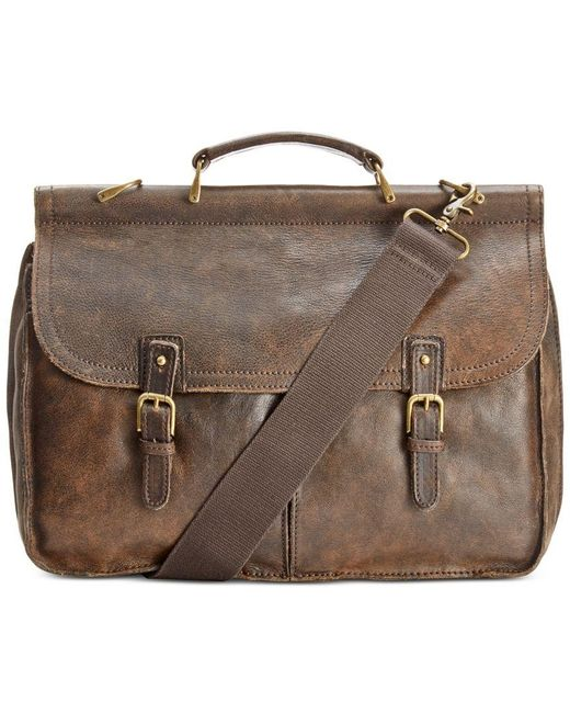 Patricia Nash | Brown Nash Men's Leather Dowel Briefcase | Lyst