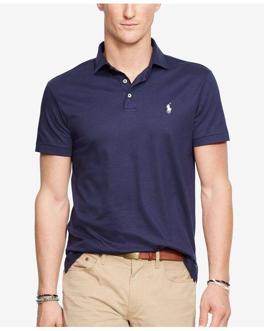 Polo Ralph Lauren   Blue Pima Soft-touch Shirt for Men   Lyst