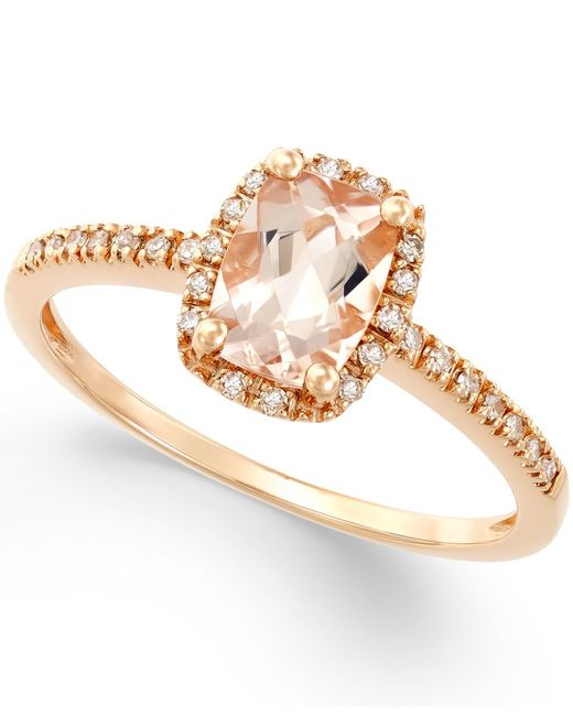 Macy's Morganite (3/4 Ct. T.w.) And Diamond (1/10 Ct. T.w