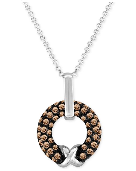 Le Vian | Brown Chocolate Diamond Pendant Necklace (5/8 Ct. T.w.) In 14k White Gold | Lyst