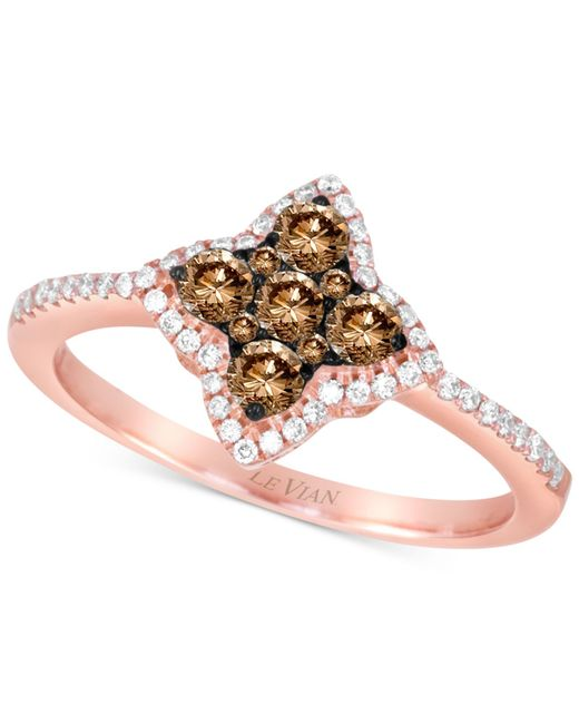 Le Vian | Pink Chocolatier® Diamond Star Ring (1/2 Ct. T.w.) In 14k Rose Gold | Lyst