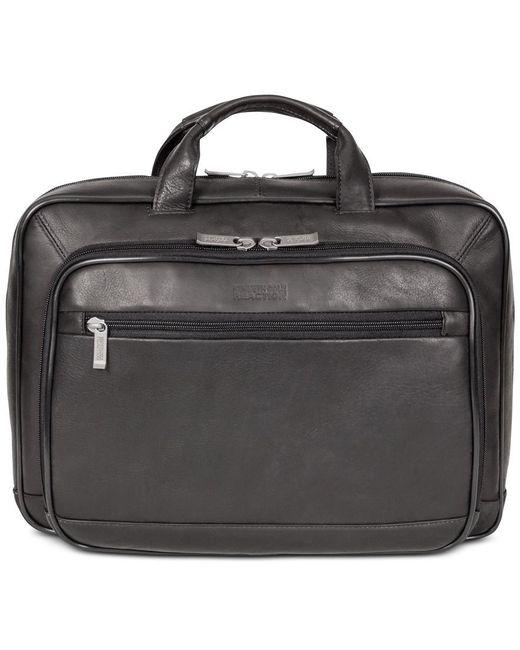 "Kenneth Cole Reaction | Black ""point Of De-port-ure"" Colombian Leather Laptop Briefcase for Men | Lyst"