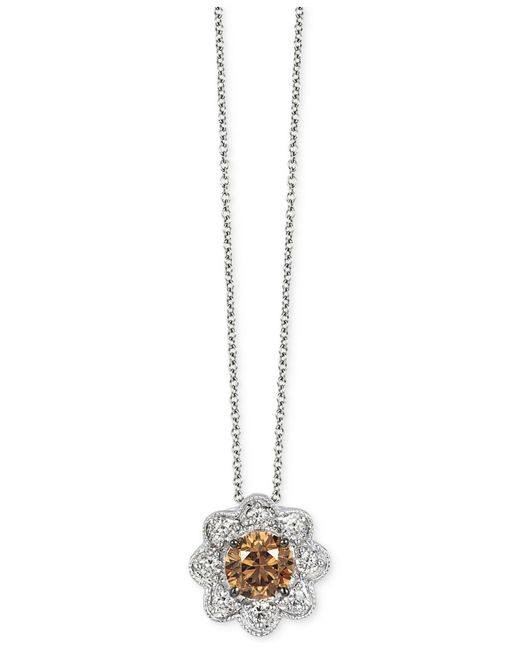 Le Vian | Brown Chocolate And White Diamond Pendant Necklace (5/8 Ct. T.w.) In 14k White Gold | Lyst