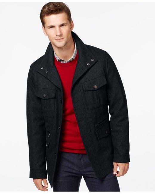 Michael Kors   Blue Wool-blend Field Coat for Men   Lyst
