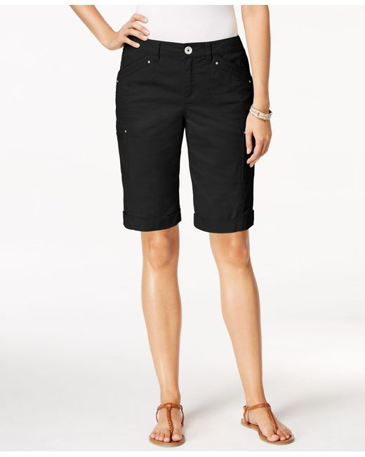 Style & Co.   Black Cargo Shorts, Only At Macy's   Lyst