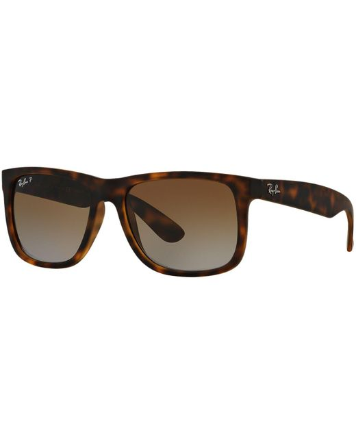 Ray-Ban | Brown Sunglasses, Rb4165 54 Justin for Men | Lyst