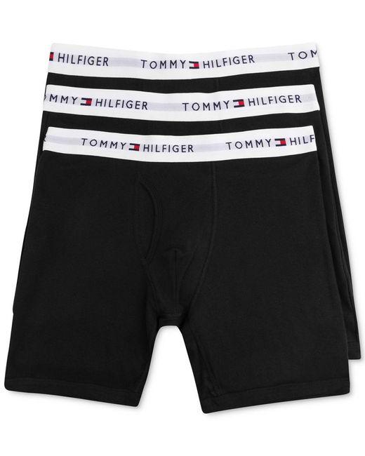 Tommy Hilfiger | Black Men's Cotton Boxer Brief 3-pack - 09te001 for Men | Lyst