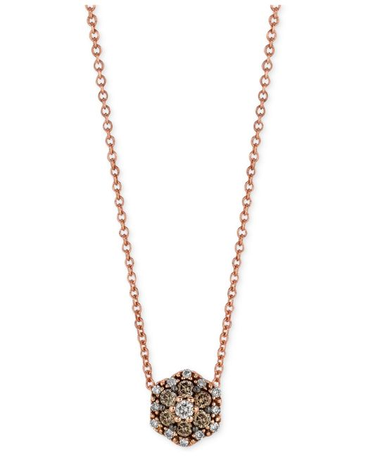 Le Vian | Metallic Chocolatier® Chocolate And White Diamond Accent Pendant Necklace In 14k Rose Gold | Lyst