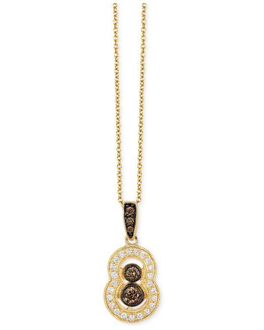 Le Vian   Metallic Vanilla Deco Estate Gold Diamond (1/3 Ct. T.w.) Pendant In 14k Gold   Lyst